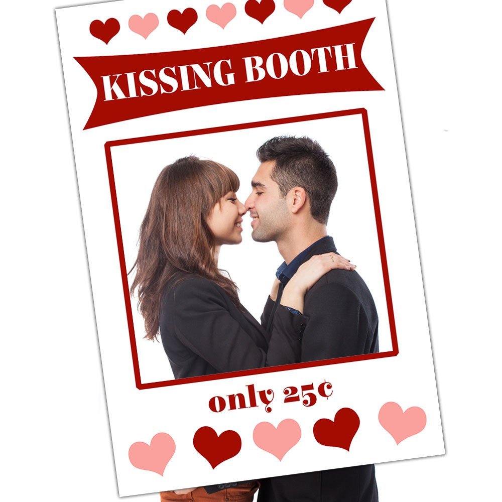 Amazon Com Valentine S Day Kissing Booth Social Media Selfie Frame