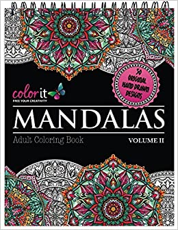 Mandalas To Color Volume 2 Adult Coloring Book