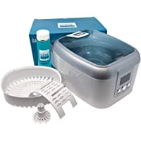 Ultrasonic Jewelry Cleaner Kit - New Premium Cleaning Machine and Liquid Cleaner Solution Concentrate - Digital Sonic…
