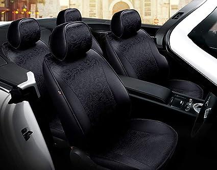Full Set of Luxury PINK//BLK Leather Look Car Seat Covers Suzuki Grand Vitara