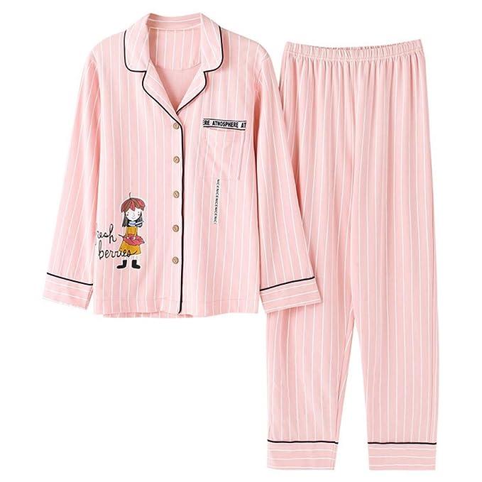 Mmllse Ropa Interior Mujeres Conjuntos De Pijamas para Niñas Pijamas Casuales De Algodón Vestidor para Dormir