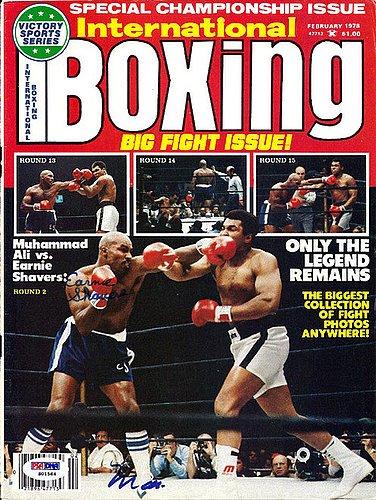 e7e72d7e571 Muhammad Ali and Ernie Shavers Signed Magazine Cover - PSA DNA  Authentication - Boxing Memorabilia at Amazon s Sports Collectibles Store