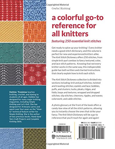 Knit Stitch Dictionary 250 Essential Stitches Debbie Tomkies