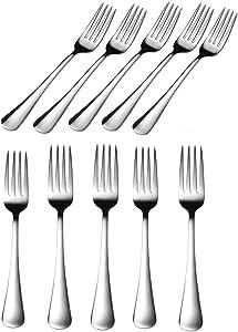 Millie Stainless Dinner Forks,7 Inches Table Forks,Flatware Forks,Dessert Forks,Salad Forks(10 Pack)
