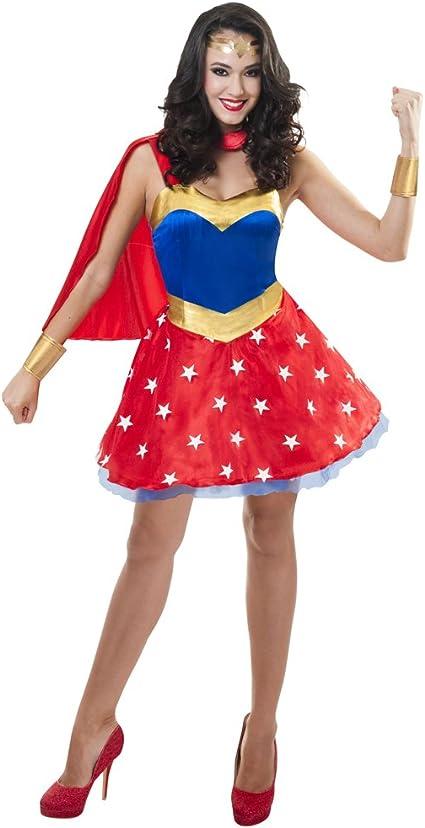 Sincere Party Disfraz de superhéroe para Mujer con Capa de satén ...