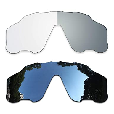 f891563d05 Image Unavailable. Image not available for. Color  2 Pair Lens Replacement  for Oakley Jawbreaker Black Photochromic Clear