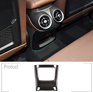 TongSheng Carbon Fiber Style for Alfa Romeo Stelvio 2017-2018 ABS Car Accessories Rear Exhaust Vent Decorative Frame Car Accessories