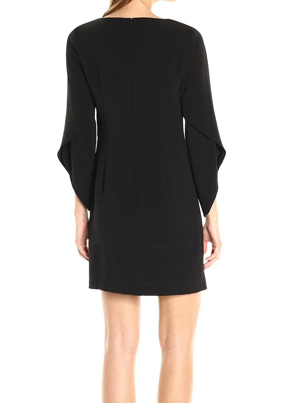 Laundry by Shelli Segal Women's Tulip Sleeve Crepe T Body, Black, 10 by Laundry by Shelli Segal (Image #2)