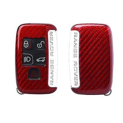 Kwaks FancyAuto - Funda Ultrafina de Fibra de Vidrio para Llaves de Coche Jaguar XE XP XJ Rosso