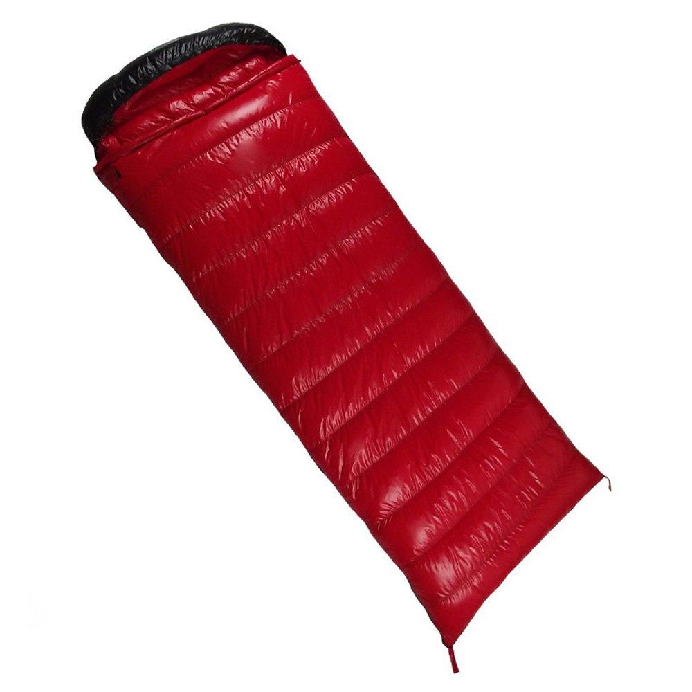 (シカリン) CIKRILAN アウトドア 撥水 超軽量 シュラフ 封筒型 防風 防寒 保温 寝袋 登山 キャンプ用 ダックダウン スリーピングバッグ B071SGMRN5 レッド Duck Down(1200g) Duck Down(1200g)|レッド