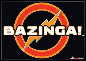 "Ata-Boy The Big Bang Theory Bazinga! 2.5"" x 3.5"" Magnet for Refrigerators and Lockers"