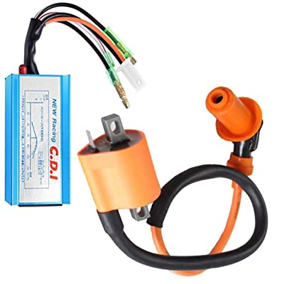 Racing Performance Ignition Coil with CDI for Polaris Sportsman 90 Scrambler 90 Predator 90 ATV Yamaha YFM350 YFS200 by TOPEMAI: Automotive