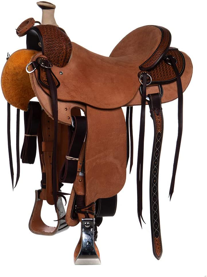 Martin Saddlery 1/4 Breed Snowflake Ranch Saddle Natural 16