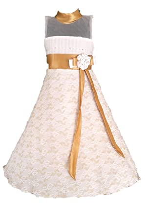 60ded2837 My Lil Princess Baby Girls Net A-Line Dress (BOWGLD Off-White 4-10 ...