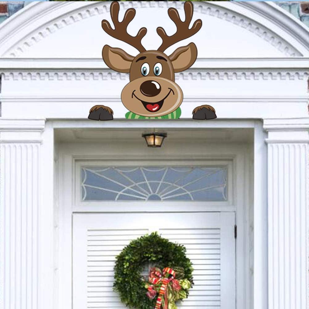 CCINEE Christmas Reindeer Outdoor Decoration with Hoof Antler Garage Door Fireplace Archway Decor for Party Supply