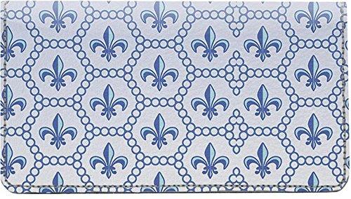 Bold Fleur Di Lis Leather Checkbook (Fleur Leather)