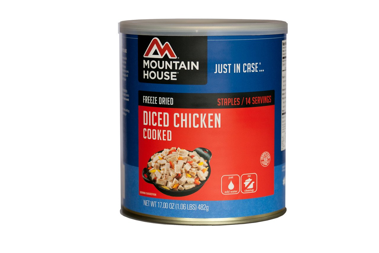 Mountain House Cooked Diced Chicken #10 Can by Mountain House