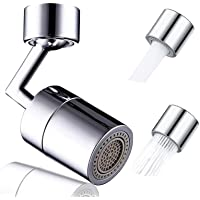 Universal Splash Faucet Aerator 720° Rotatable Soild Brass Moveable Kitchen Tap Head High Pressure Faucet Booster…