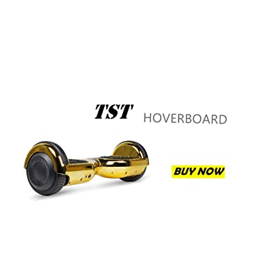 TST Bluetooth E-Scooter Flashing Light Self-Balancing Hover Board (Chrome Gold): Sports & Outdoors