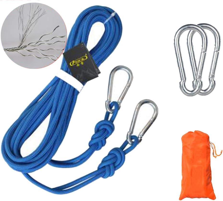 Leicht zu tragen Durchmesser 6mm W/äscheleine Bergsteigerseil Hilfsseil 5m 10m 15m rutschfest YX Climbing rope Kletterseil H/ängeseil Klettern kletterhalle Ausbildung Langlebig Blue-6mm//5M