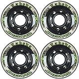 Labeda Addiction wheels XXX Grip Black/White 72mm Roller Hockey 4-Pack