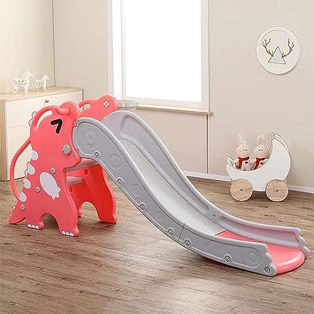Slides Infantil Tobogán de Juegos para Interiores, Niños Juguete de plástico para Exterior/Parque/Jardín, Escalador + Tobogáns Apto para 2-5 años,Rojo: Amazon.es: Hogar