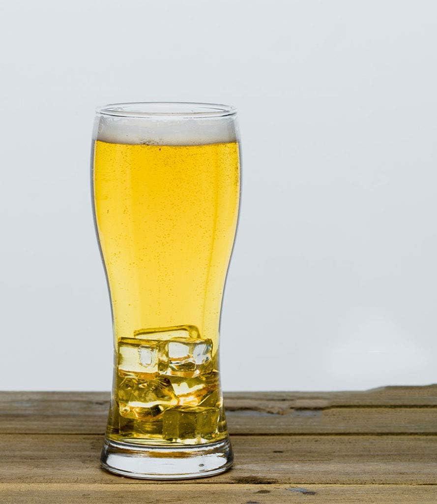 RyanBm Jarras de Cerveza Craft Cerveza Kit de cata de Vidrio Juego de 2 Tazas de café, té, Jugo, Leche, Vino, Cristal 460ML (18 * 7CM) (Paquete de 2)