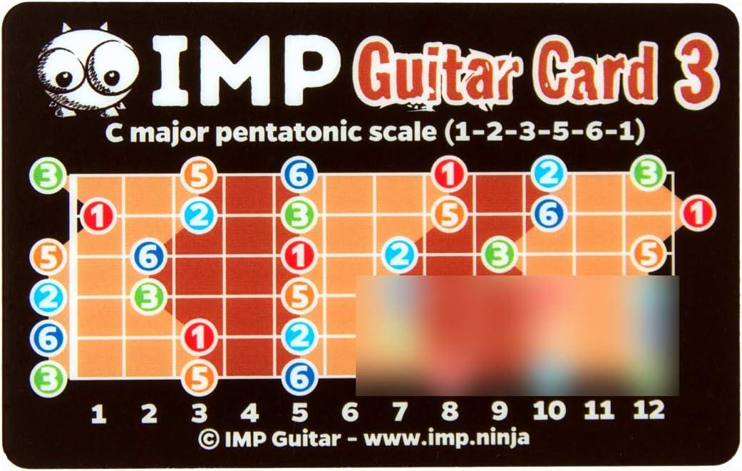 Tarjeta de guitarra IMP, aprende acordes y todos los tonos y notas ...