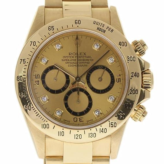 save off c6fb6 ea020 Amazon.com: Rolex Daytona Swiss-Automatic Male Watch 16528 ...
