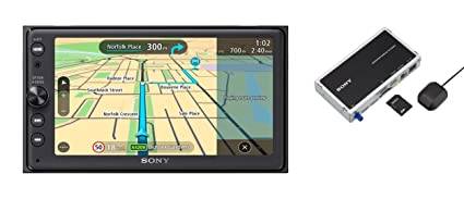 Sony XNVKIT100 - Receptor Multimedia para Coche y módulo GPS (Android Auto, Bluetooth,