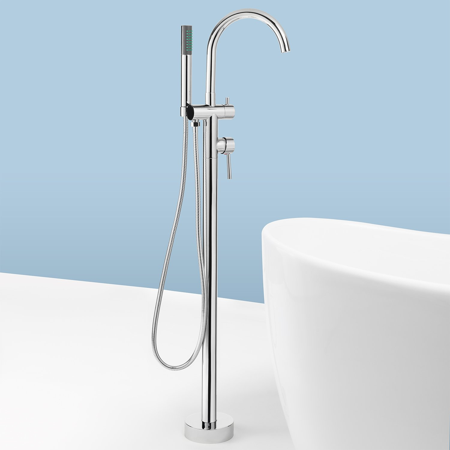 AKDY 8723 Contemporary Freestanding Floor Mount Bath Tub Filler ...