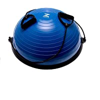 HIRAM Yoga Hemisphere Ball 60cm Balance Ball Balance Trainer Evenwichtstrainer Gymnastiekbal Trampoline Bal Fitness…