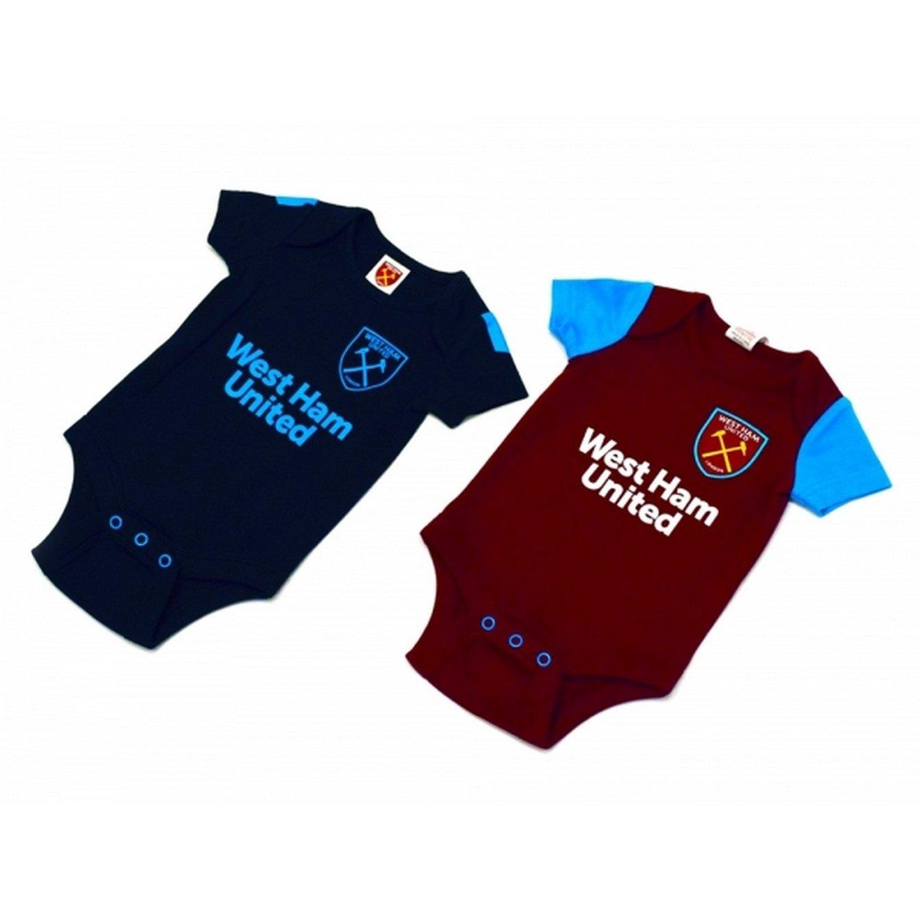 West Ham - Body para bebé (Paquete de 2) (9-12m/Azul/Granate ...