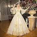 貴族 ドレス お姫様 カラードレス ロングドレス ステージ衣装 舞台衣装 王族服 豪華なドレス ウェディング 発表会 貴族風ドレス プリンセスライン オペラ声楽 中世貴族風 演奏会ドレス ステージドレスの商品画像