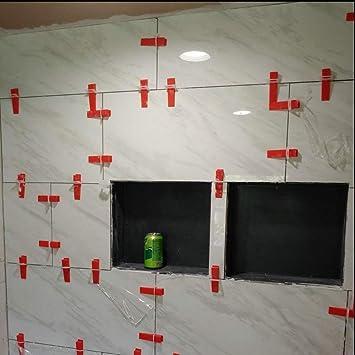 Kedelak Herramienta de sistema de nivelaci/ón de azulejos 100 piezas Dispositivo de nivelaci/ón de azulejos Alisador de azulejos Clip de intervalo Herramienta de azulejos de piso de pared