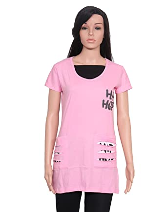 f8e86c142b780 Ninelions fashions Pink colour cotton top for summer wear  Amazon.in   Clothing   Accessories