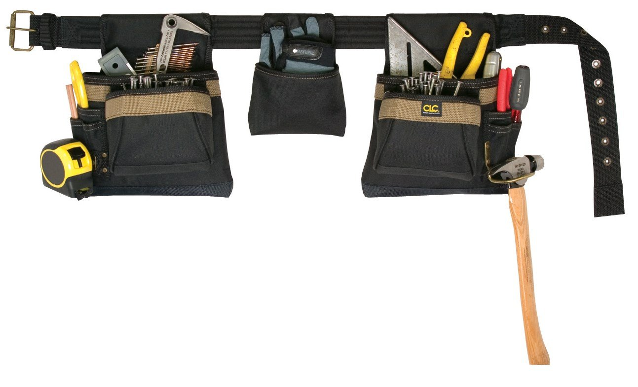 CLC Custom Leathercraft 1649 Combo Apron, Poly, 4 Piece, 17 Pocket with Padded Belt and Steel Roller Buckle