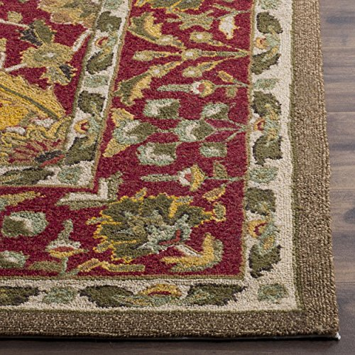 Safavieh Easy to Care Collection EZC761A Handmade Multi and Red Area Rug 4 x 6