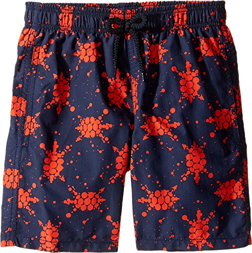 Vilebrequin Kids Boy's Japan Turtles Swim Trunk (Big Kids) Navy/Red Swimsuit Bottoms by Vilebrequin Kids
