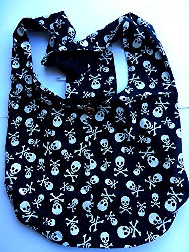 ... Handgefertigte Beuteltasche aus Baumwolle mit Totenkopf Muster von Ariyas  Thaishop