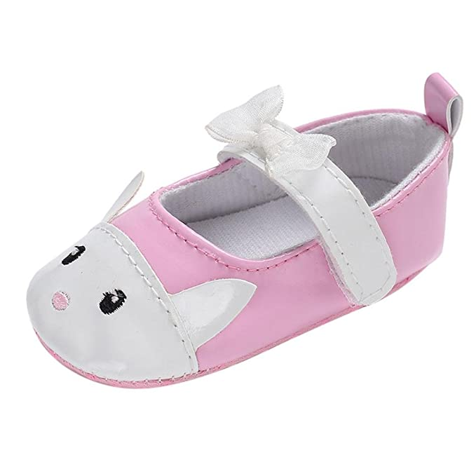021ff9a85f0d Moonker Newborn Infant Girl Cute Rabbit Walking Shoes Baby Non-Slip Soft  Sole Crib Toddler