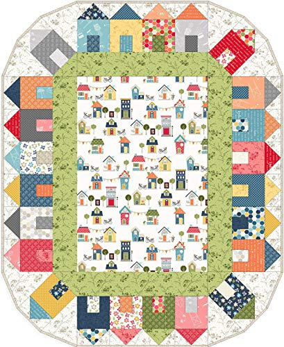 Kim Christopherson Make Yourself at Home Around The Block Quilt Kit Maywood Studio