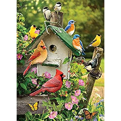 Cobblehill 80126 1000 Pc Summer Birdhouse Puzzle Vari
