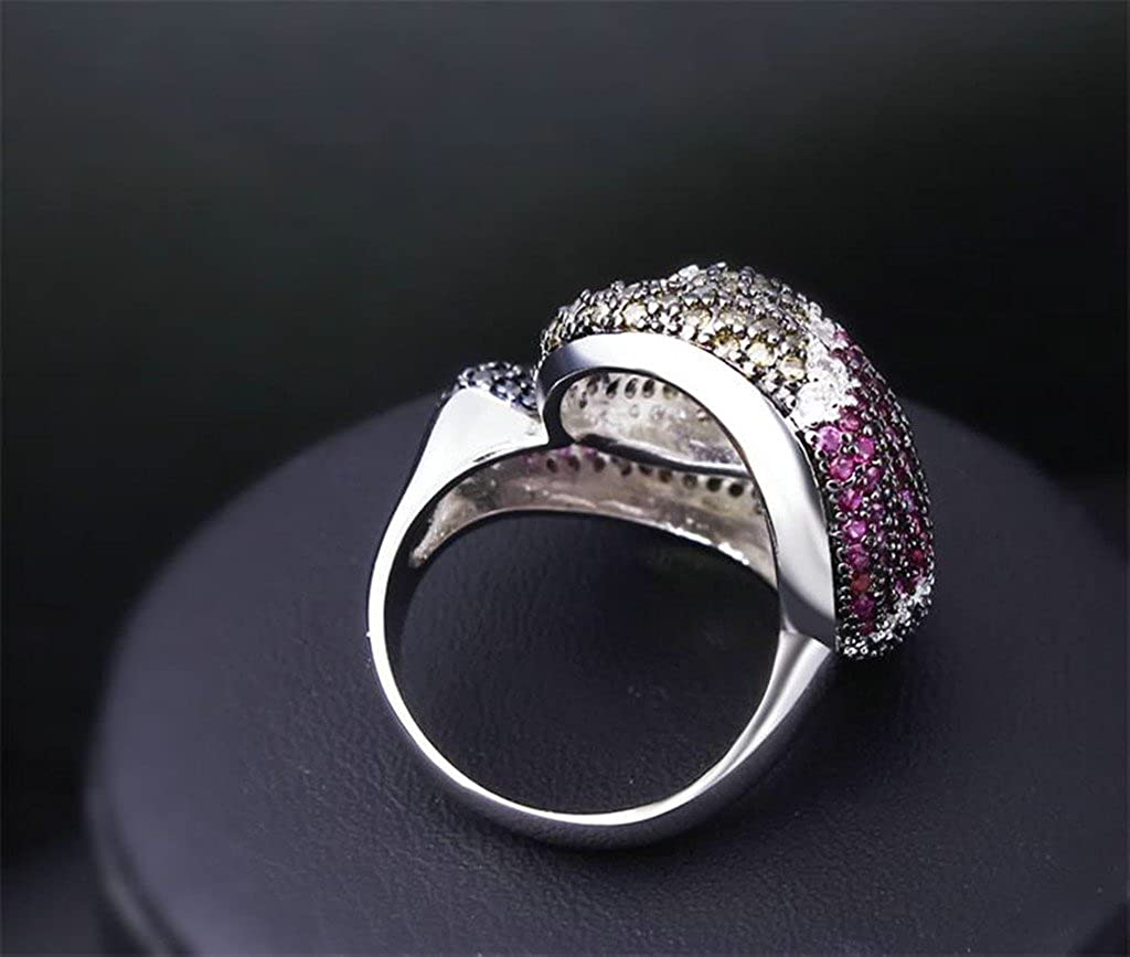 Bishilin Lab Created Artifical Diamond Wedding Bands For Women Size 9