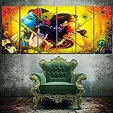 RAY DECOR Radha Krishna Wall Painting - 6 Frames