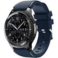 For Samsung Gear S3 Frontier New Fashion Sports Silicone Bracelet Strap Band,Outsta Watch Band Wrist Strap Watch Accessories Bracelet Best Gift 22mm (Dark Blue)