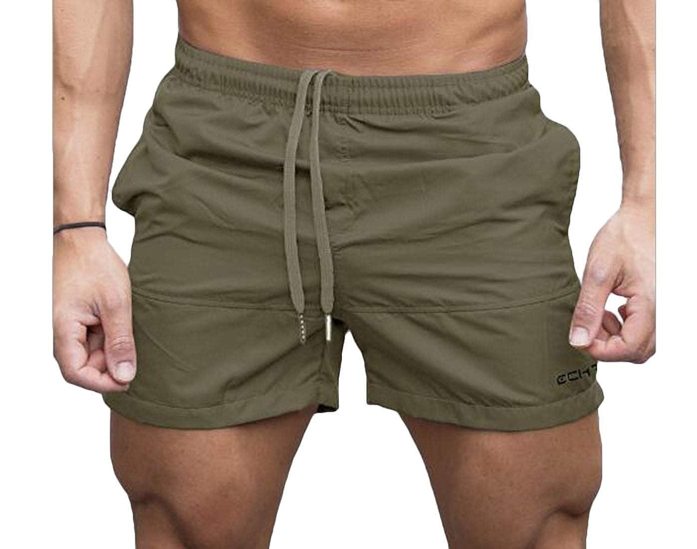 Nanquan Men Sport Drawstring Beach Solid Casual Shorts Sweatpants