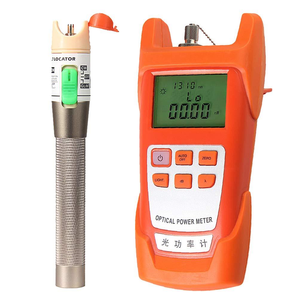 Baosity Portable AUA-9C Optical Fiber Power Meter Tester Measure -70dBm~+10dBm + 30mW 10-30KM Visual Fault Locator Fiber Tester Detector Meter Pen