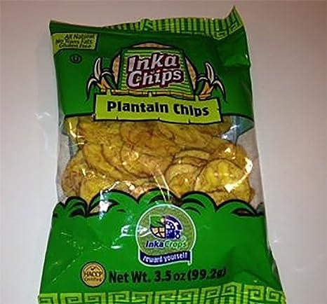 Inka Cultivos Inka – Bolsas de plátano chips, 3.5 onzas ...
