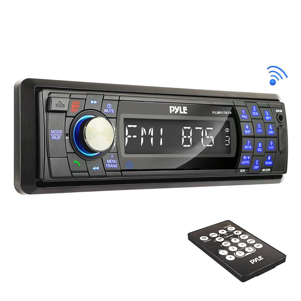 Pyle Bluetooth Marine Stereo Radio - Waterproof/Weather Proof Single on